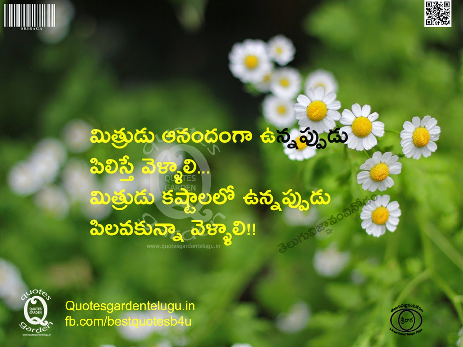 Best Telugu friendship quotes with nice wallpapers and beautiful images