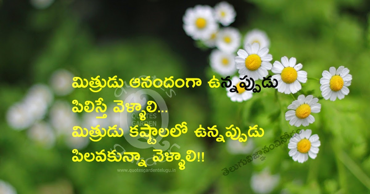 Best Telugu friendship quotes with nice wallpapers and ...