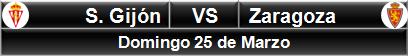 Sporting Gijón vs Zaragoza