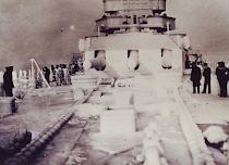 Graf Spee con la cubierta congelada