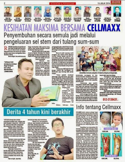 Kesihatan Maksima bersama Cellmaxx