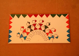 Tile Painting - Warli Art Design