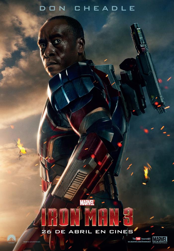 Don Cheadle en el nuevo cartel de Iron Man 3