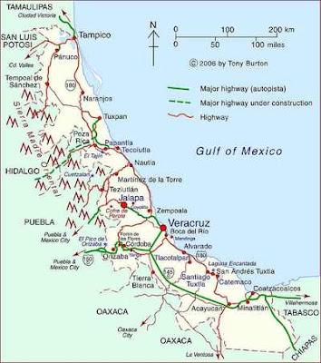 Mapa de Veracruz Político Región