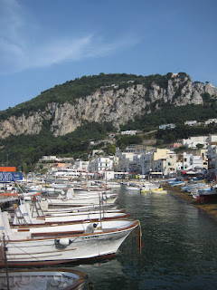 The harbor in Capri.