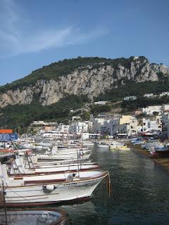 The harbor in Capri.