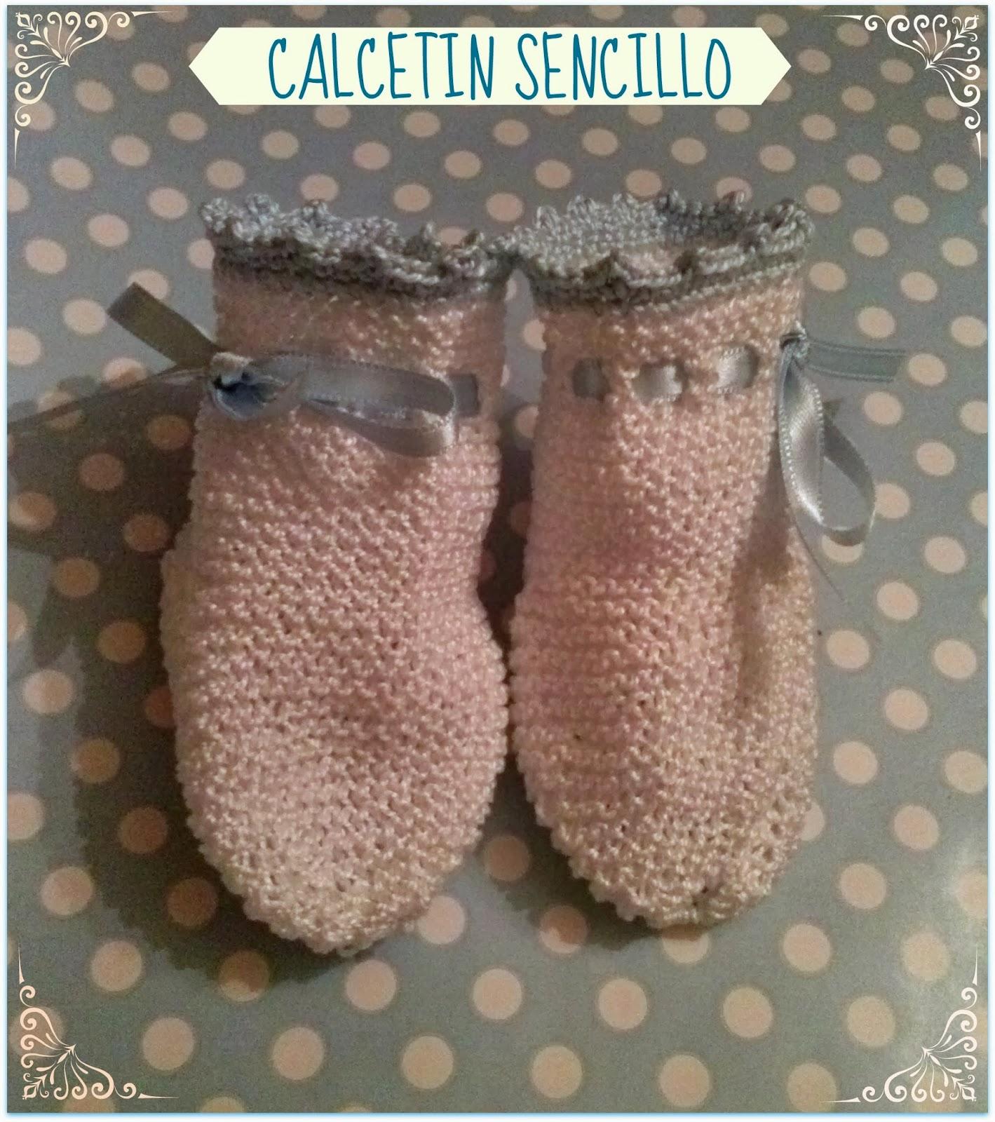 Miss perchas patron sencillo de calcetin para bebe - Como hacer calcetines de punto ...