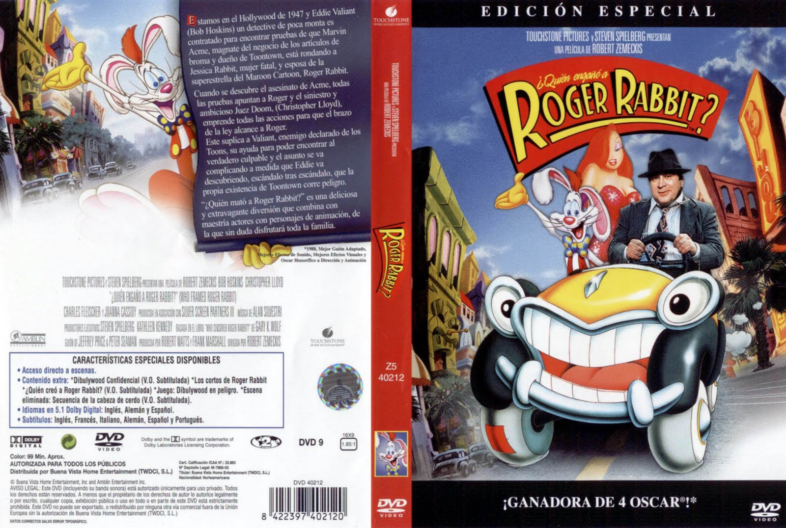 ¿ Quién Engañó a Roger Rabbit ? (1988) DescargaCineClasico.Net