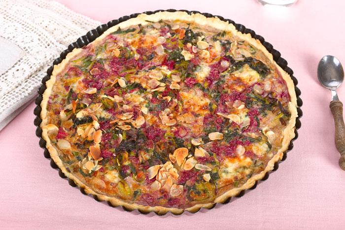 Mangold- Lauch- Tarte. Vegetarische Rezepte. Edyta Guhl.