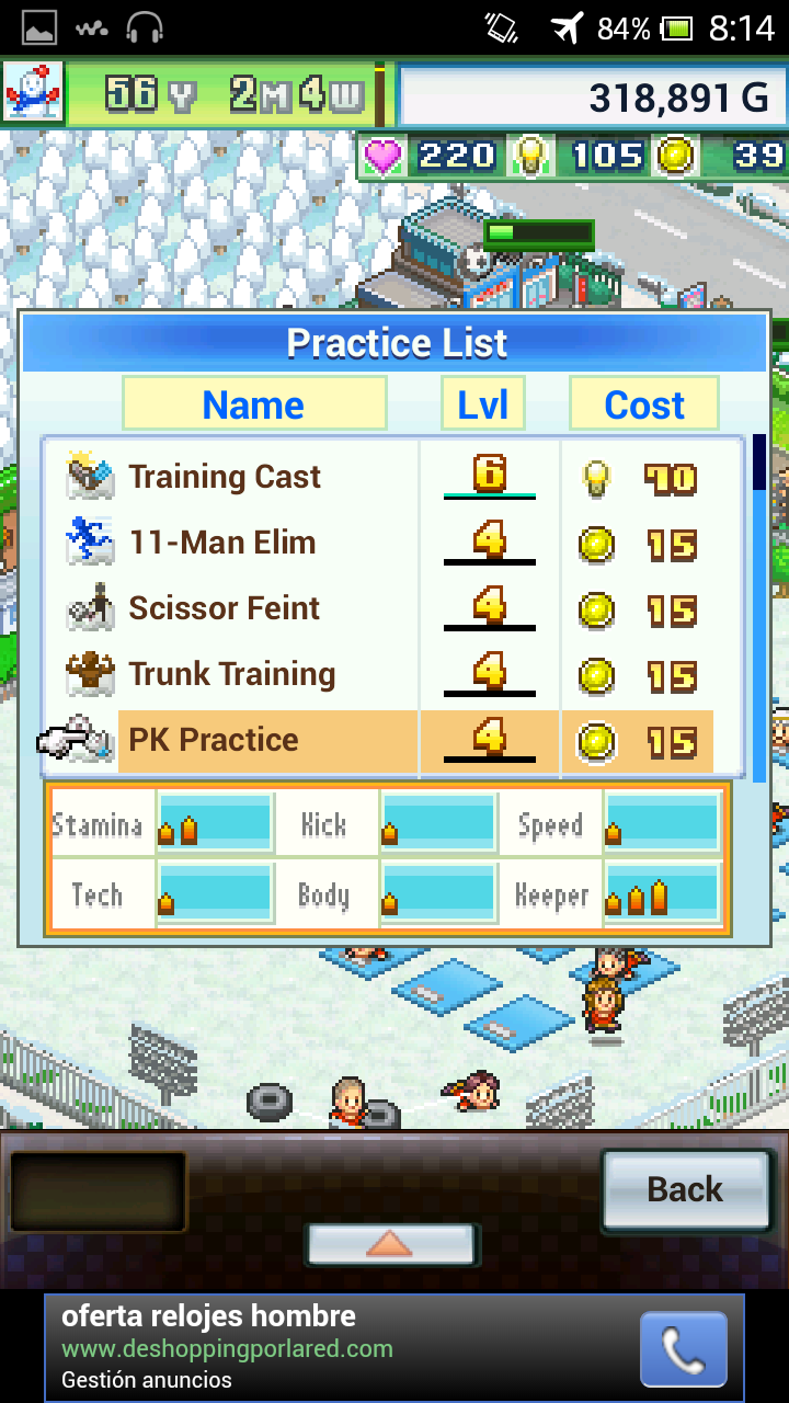 Pocket League Story 2: Train Combination - Combinaciones entrenamiento Pk Practice