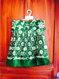 baju batik anak hijau