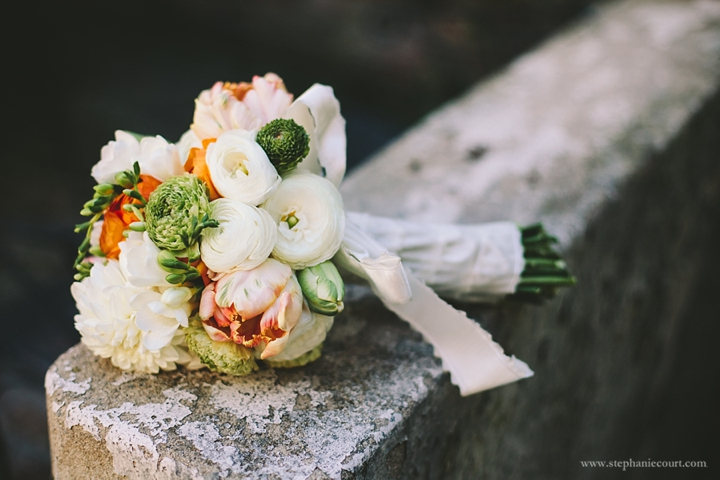 """orange and green bridal bouqet"""
