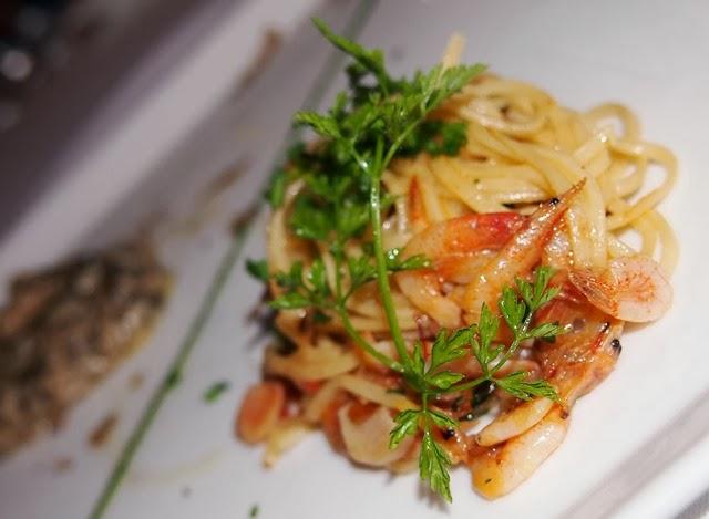 oso ristorante angel hair gambretti shrimps pasta