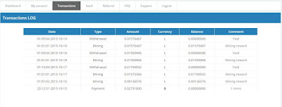 Bukti withdraw atau bukti pembayaran dari cointracker.org