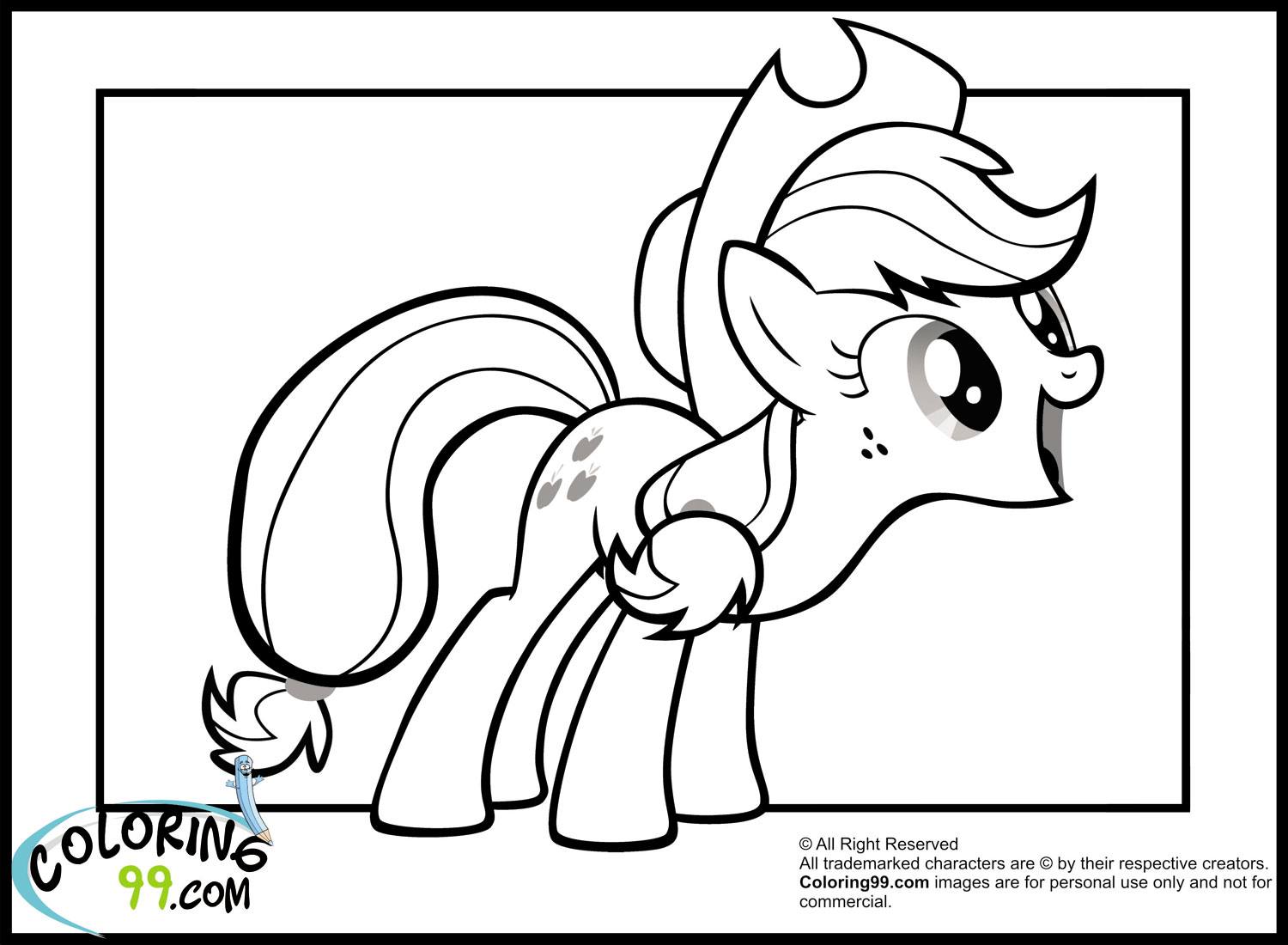 Free Coloring Pages Of My Little Pony September My Pony Applejack Coloring Pages