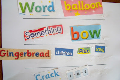 Word Collages Literacy Ideas for Preschool