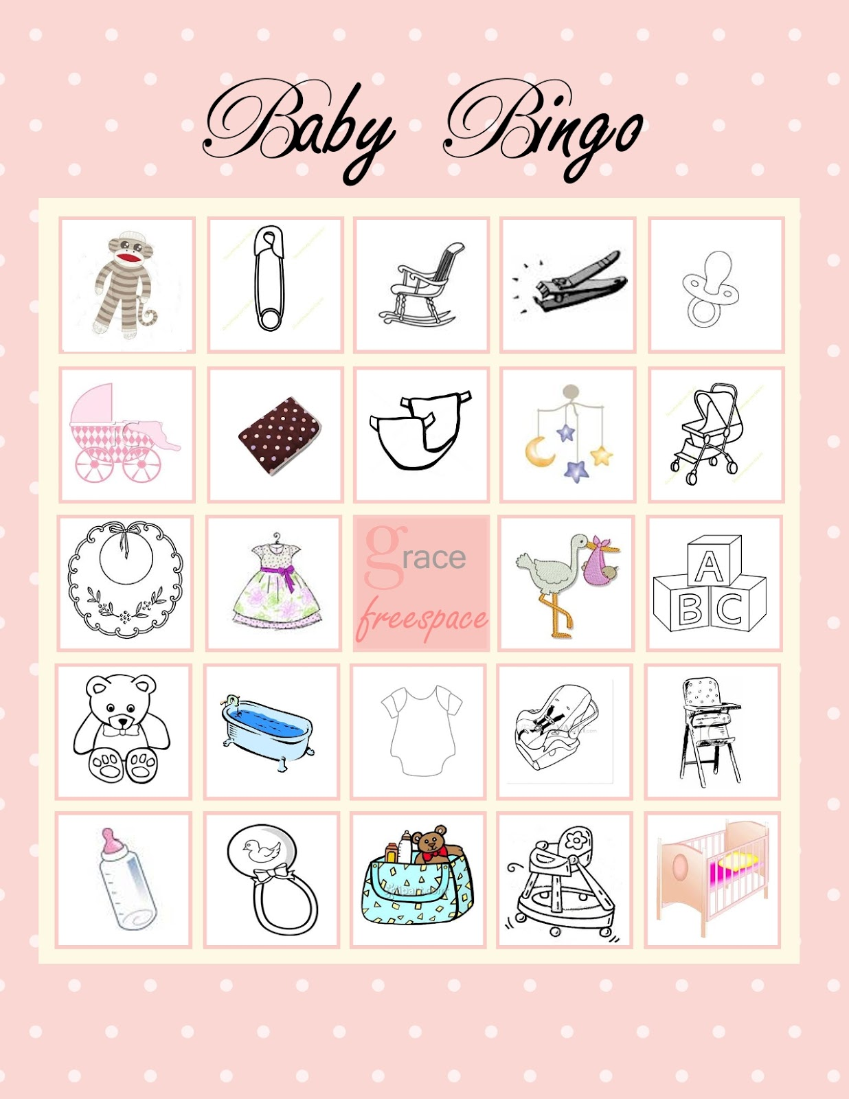 butternut sage designs baby shower bingo cards
