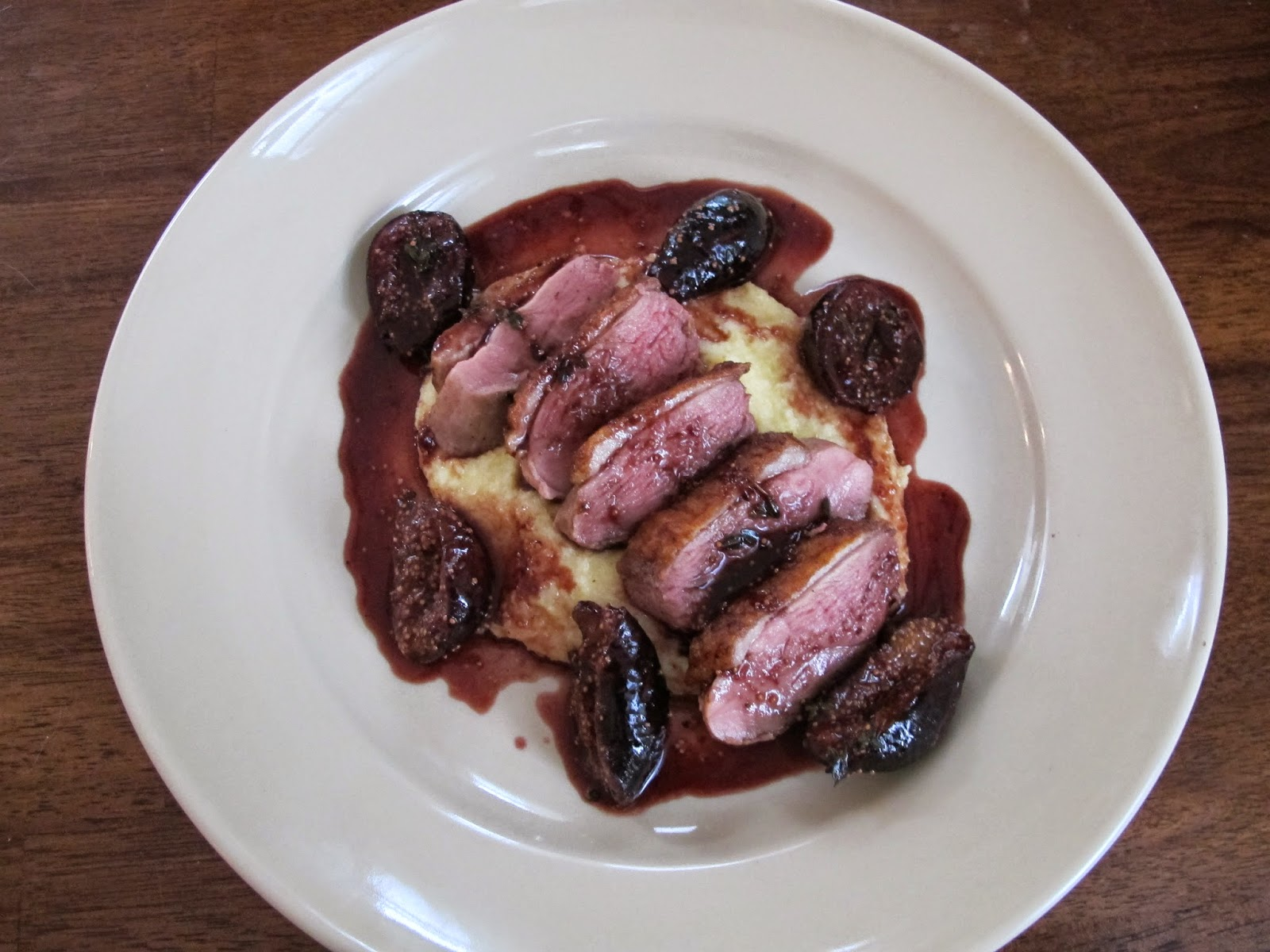 Duck Breasts with Fig and Wine Sauce