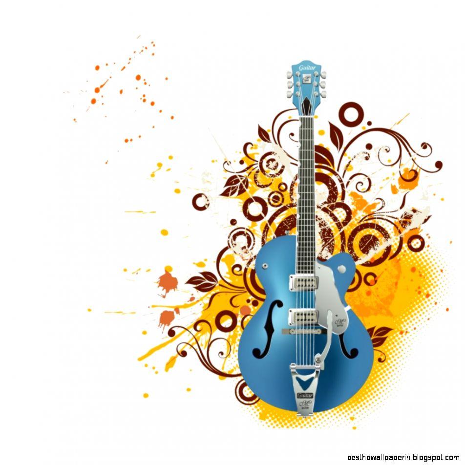 Wallpaper Hd Nature Guitar: Colorful Guitars Wallpaper