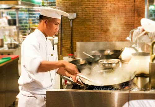 The Chef preparing our lunch at C's Steak & Seafood, Grand Hyatt Jakarta