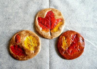 Salt Dough Leaf Print Fall Crafts for Kids #preschool #fall #craftsforkids