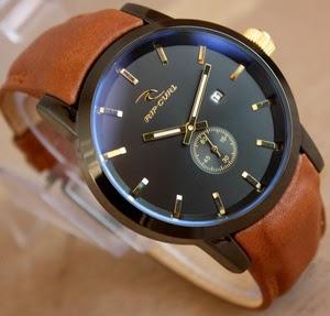 Jam Tangan Ripcurl Detroit Brown-Gold Leather