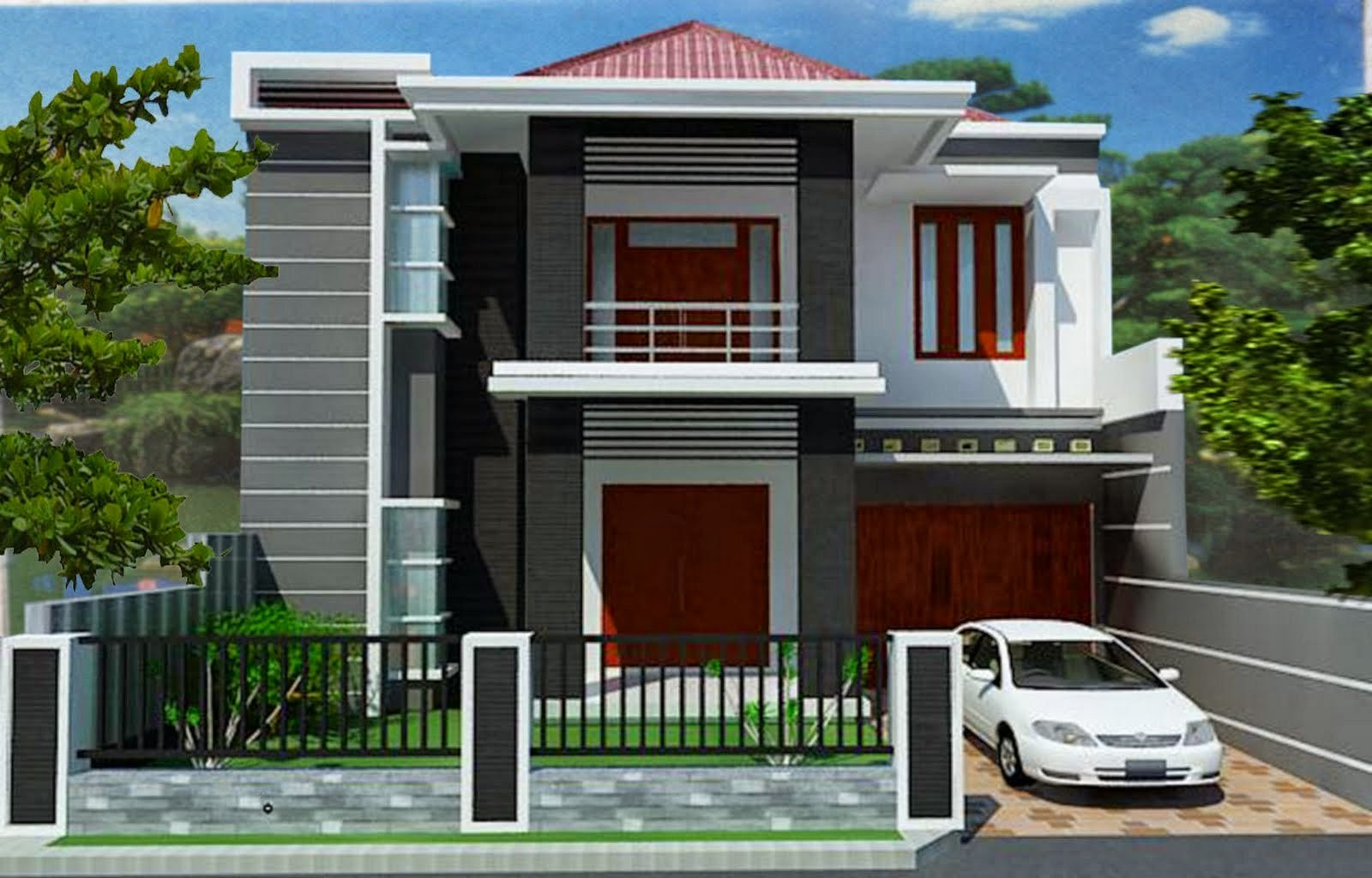 2 storey modern minimalist house design nyoke house design for Storey house designs