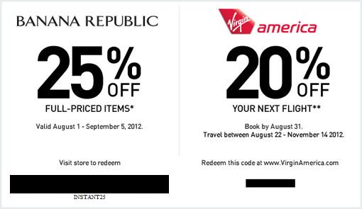 virgin america coupon 2009