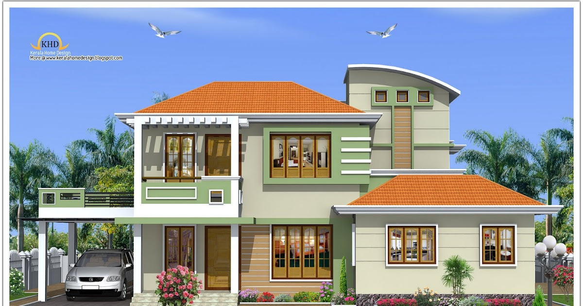 N Home Elevation U : House elevation sq ft kerala home design and