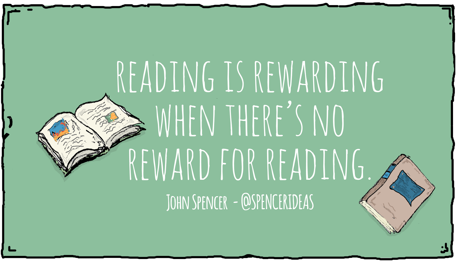 Reading is Rewarding When There's No Reward for Reading