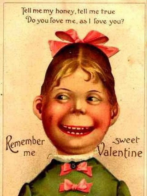 Creepy Vintage Valentines Day Greeting Cards – Weird Valentines Cards