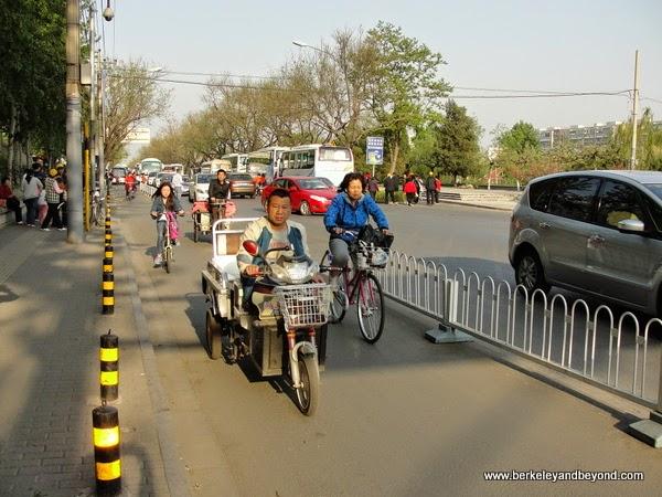 mixture of vehicles in traffic in Beijing