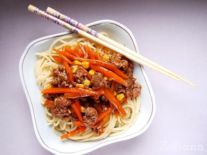 Ground Pork Chow Mein