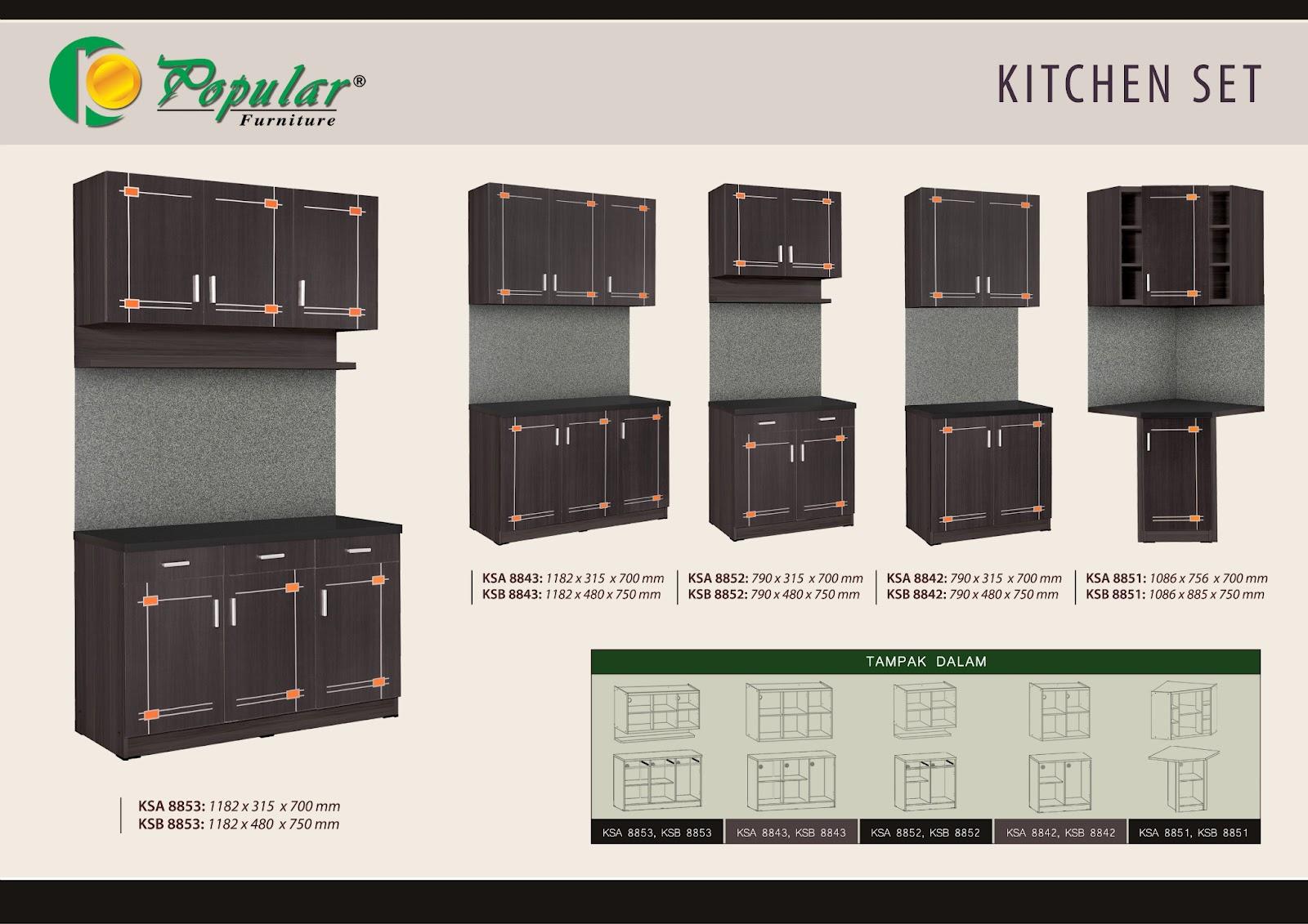 Kitchen set lemari sayur lemari pakaian murah for Daftar harga kitchen set