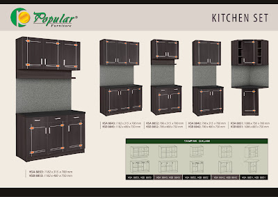 Kitchen set black lotus