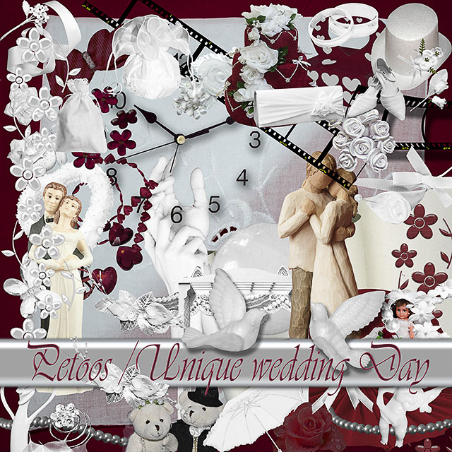 Unique Wedding Day from Digiscrap Petoos