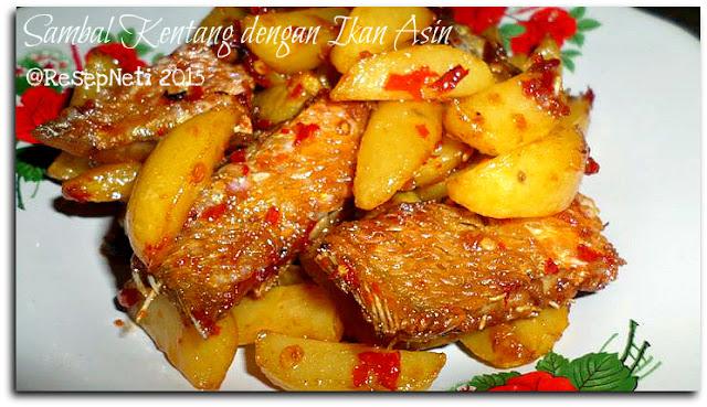 Resep sambal kentang dengan ikan asin