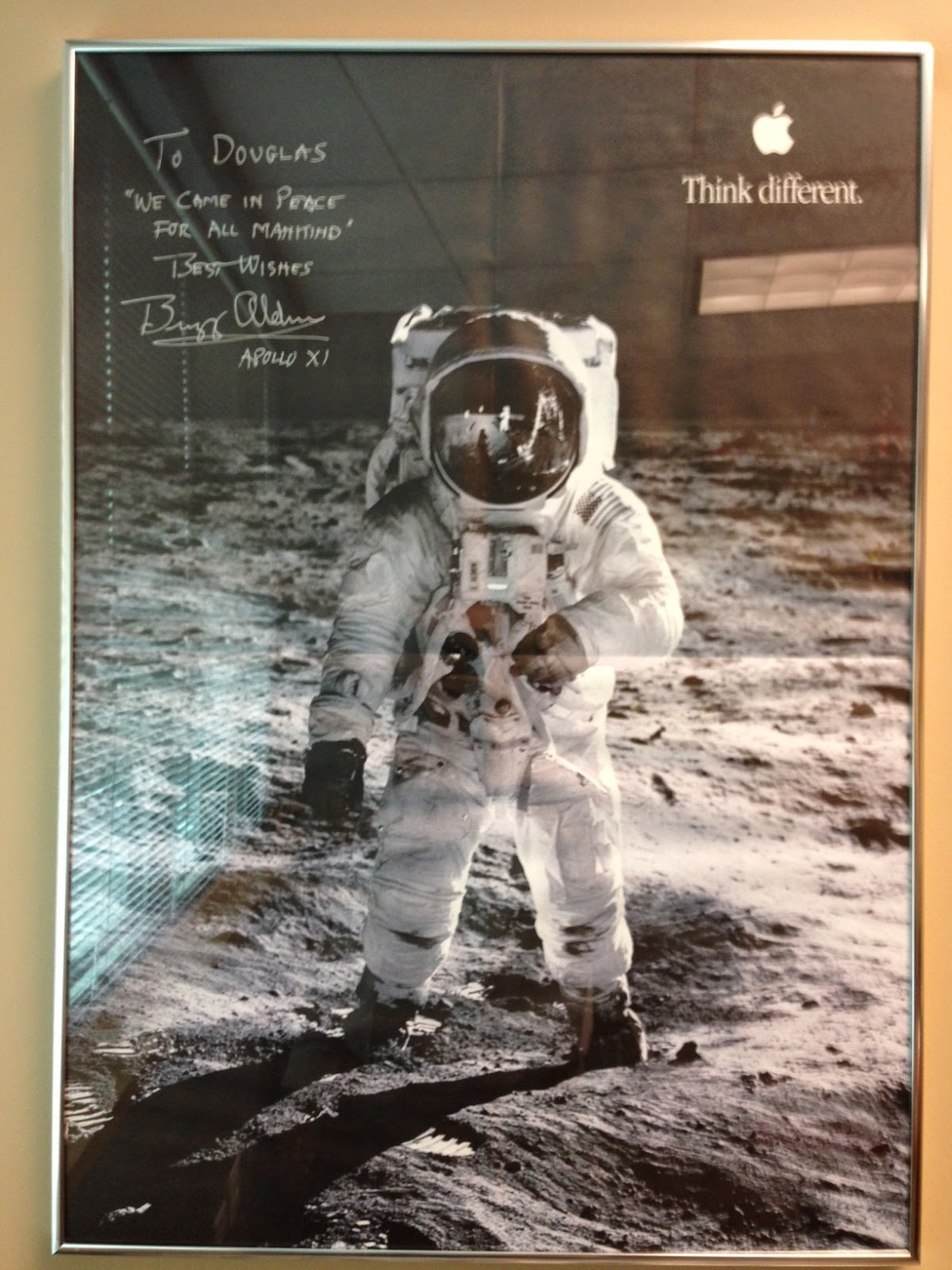 Framing large poster (Buzz Aldrin/Think Different) - collectSPACE ...