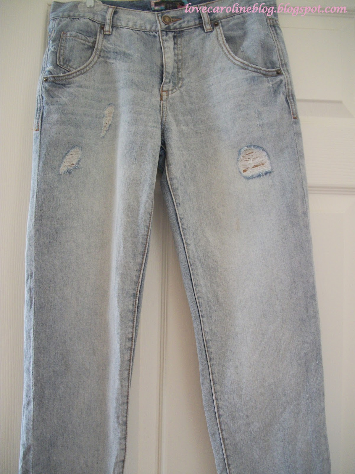Love Caroline Blog DIY Patched Jeans
