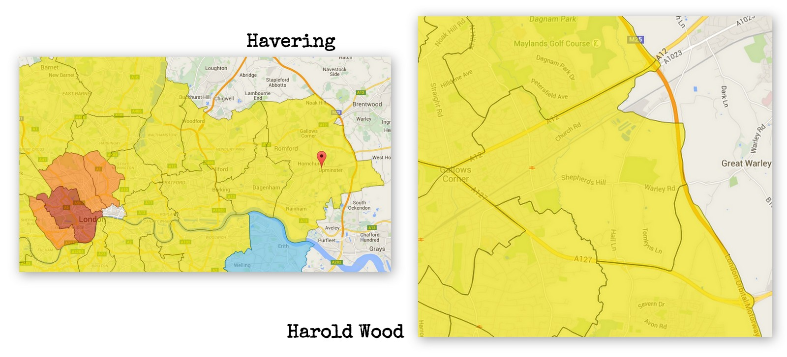 About Havering and Harold Wood