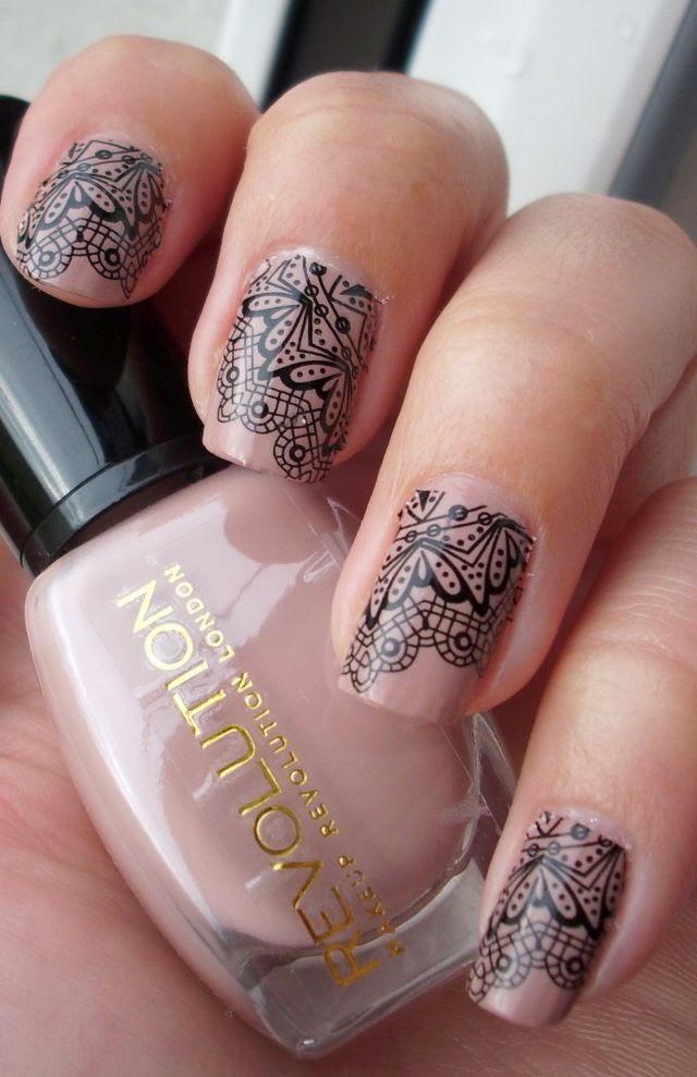 Did someone say nail polish?: Lace mani with Make Up Revolution ...
