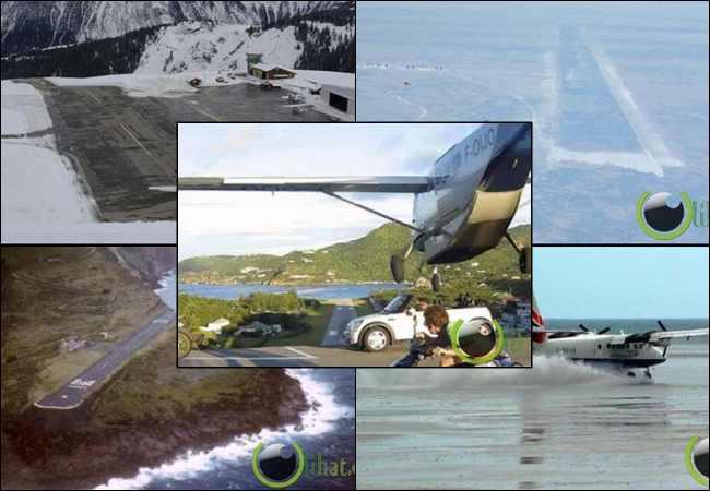 10 Bandara atau Airport yang paling Aneh dan Ekstrim di Dunia