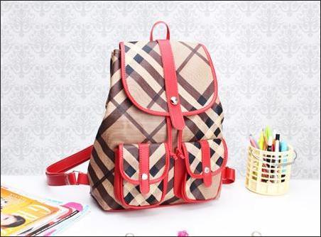 jual tas ransel korea wanita murah Merah coklat