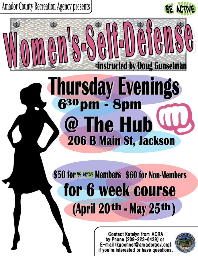 Women's Self Defense - Thurs, Apr 20 thru May 25