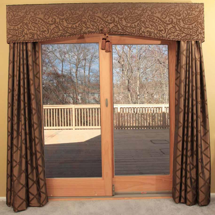 Tirai atau gorden rumah untuk pintu kaca geser