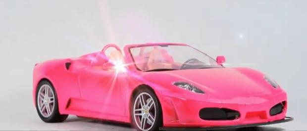 Get it in pink - Everything pink: A pink Ferrari!