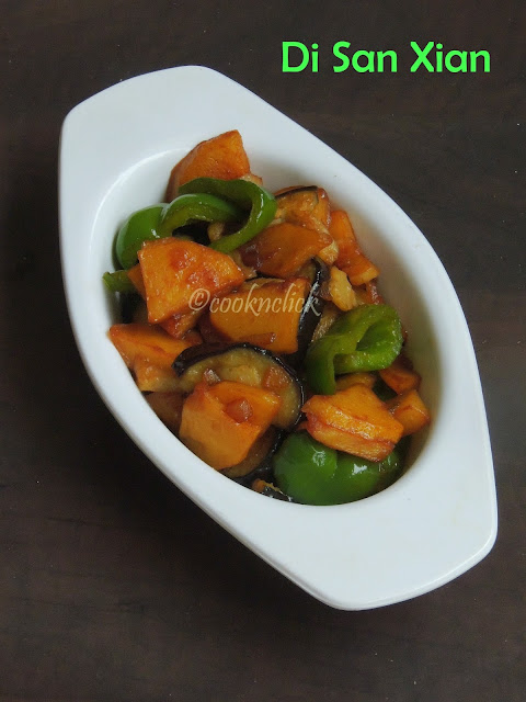 Di San Xian, Chinese Stir fried Vegetables