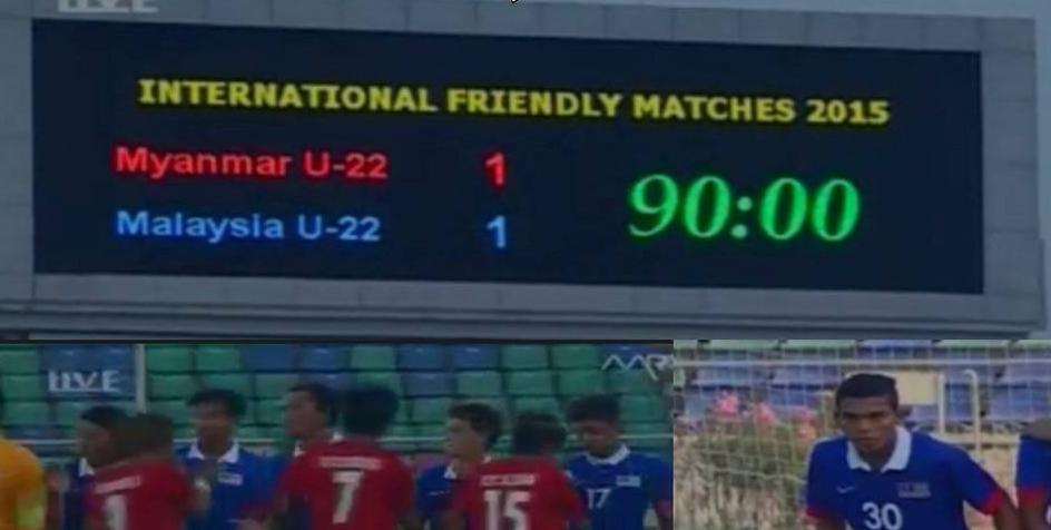 Keputusan Malaysia B22 Vs Myanmar B22 Ahad 22 Mac 2015