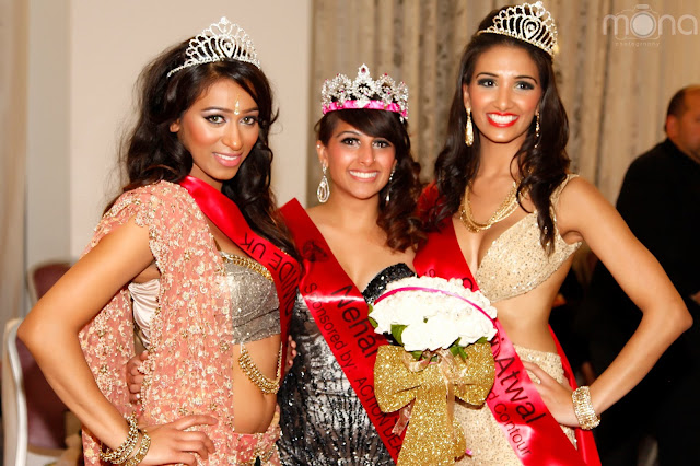 Winners of Miss India UK 2013 Anu Sahota, Nehal Bhogatia, Sukhi Atwal