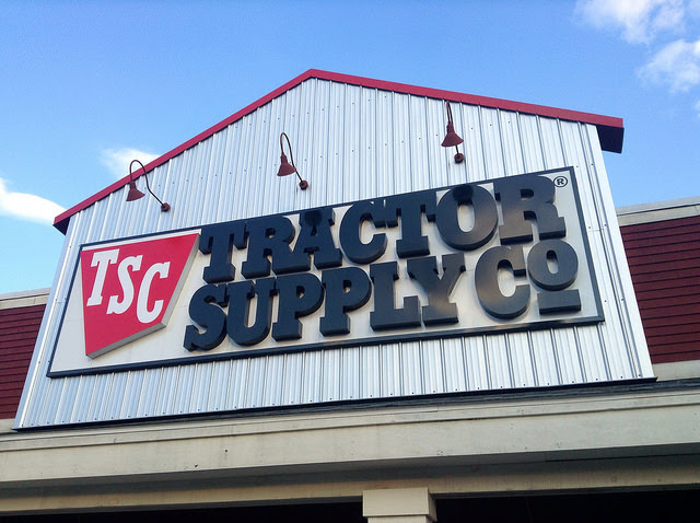 The facade of a Tractor Supply store